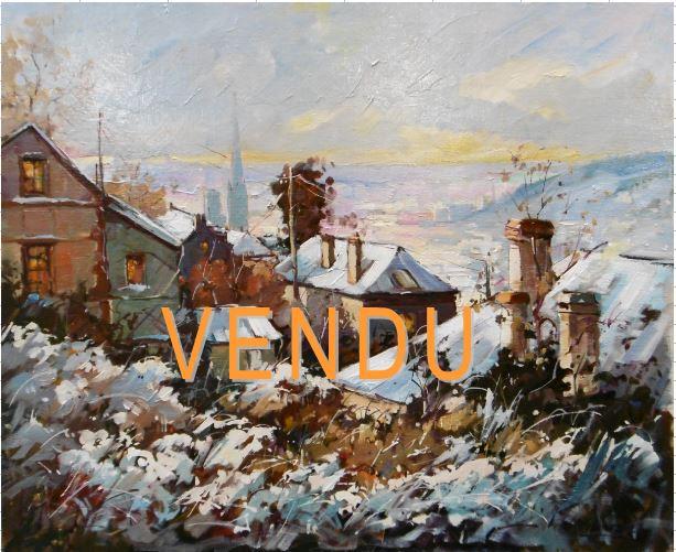 Vue de ROUEN Enneigée- VENDU