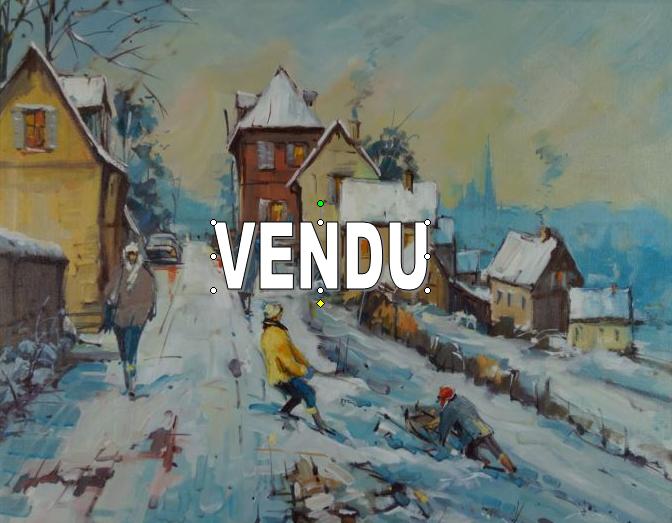 Neige vue de Rouen -VENDU