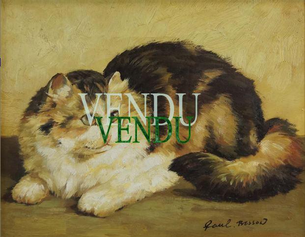 Etude Chat signée Paul BESSON – Vendu