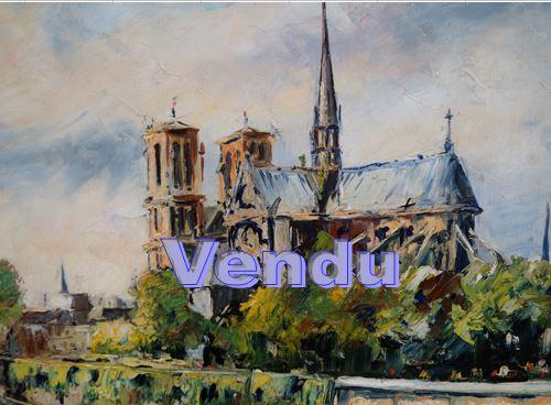 """Ecole Française 20ème """"Notre Dame de Paris""""- Vendu"""